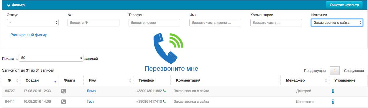 технология обратного звонка